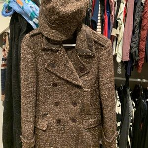 Coach wool Peacoat with pageboy cap